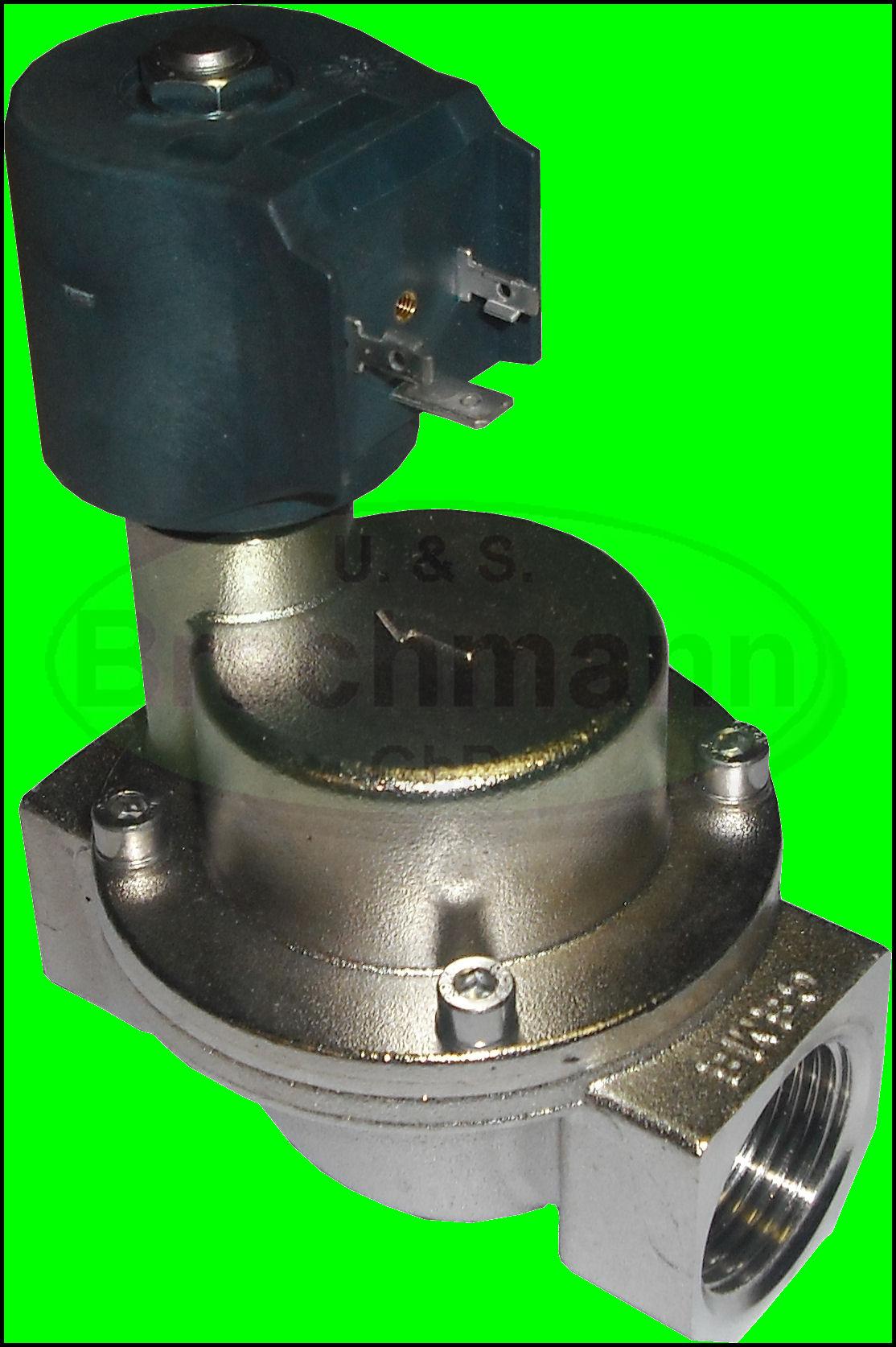 magnetventil 1 230v 1 10bar nc 180 c dampf wasser ebay. Black Bedroom Furniture Sets. Home Design Ideas